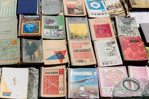 Old Soviet textbooks fom the 60s and 70s